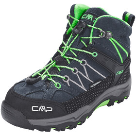 CMP Campagnolo Kids Rigel Mid WP Trekking Shoes Asphalt-Ice Mint